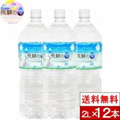 水 2l 2000ml 12本 ミネラルウォーター 天然水 北アルプス 飛騨の雫 送料無料 日本 安全 軟水