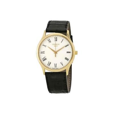 腕時計 ティソット メンズ Tissot Excellence Men's 18kt Yellow Gold Leather Watch T926.410.16.013.00