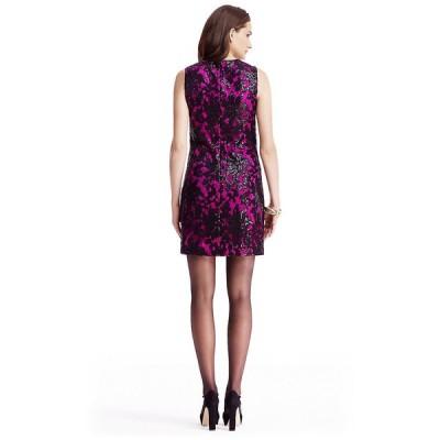 ワンピース ダイアンフォンファステンバーグ DIANE VON FURSTENBERG DVF Orchid Kaleb Embellished Lace Dress 10 12