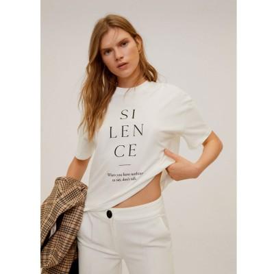 Tシャツ .-- SILENCE (ナチュラルホワイト)