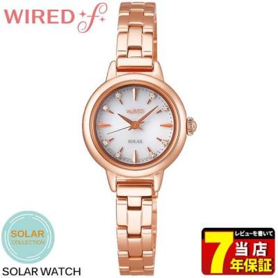 ポイント最大12倍 セイコー アルバ ワイアードエフ ソーラーコレクション ソーラー レディース 腕時計AGED106 銀 シルバー ローズゴールド 銀 国内正規品
