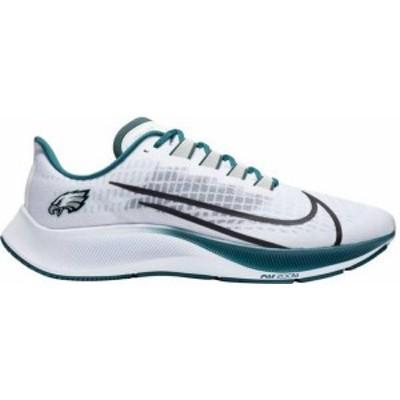ナイキ レディース スニーカー シューズ Nike Philadelphia Eagles Air Zoom Pegasus 37 Running Shoes White/Silver