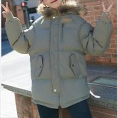トレンド 売れ筋 冬物 中綿コート モッズコート フードファー ボリュームファー 袖リブ 厚手 暖か ミドル丈 hf00985