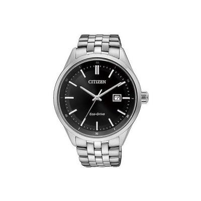 腕時計 シチズン Citizen エコドライブ Sapphire Japan 100m ブラック ダイヤル メンズ 腕時計 BM7250-56E