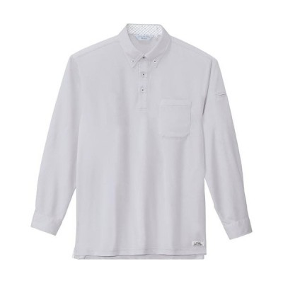 ジーベック(XEBEC) クールビズ長袖ポロシャツ 22/シルバーグレー 6185 作業服 作業着 ワークウエア ワークウェア メンズ レディース