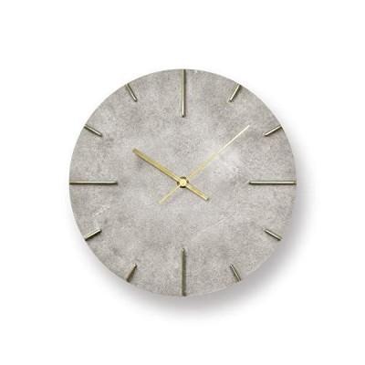 レムノス 掛け時計 アナログ 真鍮 銀 クエィント 斑紋純銀色 Quaint AZ15-06SL Lemnos 直径25?