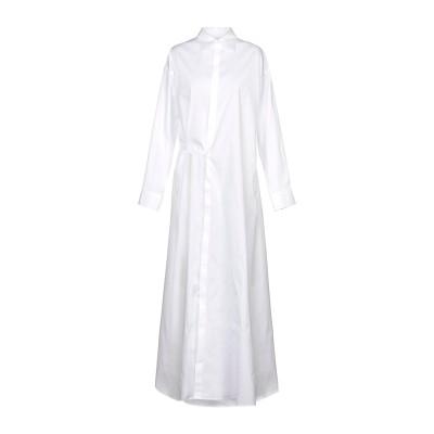 ディースクエアード DSQUARED2 ロングワンピース&ドレス ホワイト 42 コットン 97% / ポリウレタン 3% ロングワンピース&ドレス