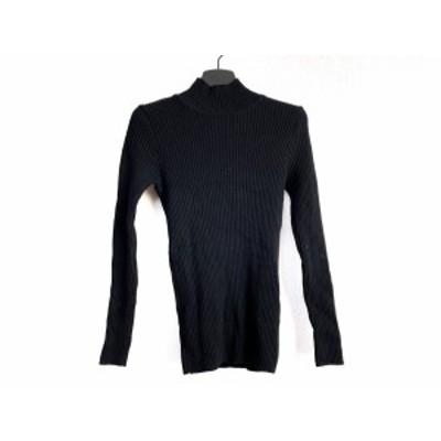 ユキトリイ YUKITORII 長袖セーター サイズM レディース - 黒 ハイネック【中古】20210205
