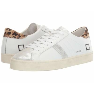 デイト スニーカー シューズ レディース Hill Low White/Leopard
