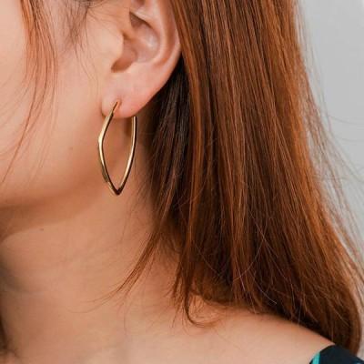 Visunion ファッション シンプル な スタイル 合金不規則な サークル フープ イヤリング 女性 の幾何 イヤリング