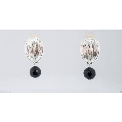 イヤリング サイモンセバグ Simon Sebbag Sterling Silver Clip Faceted Black Onyx Earrings EC54/FBO