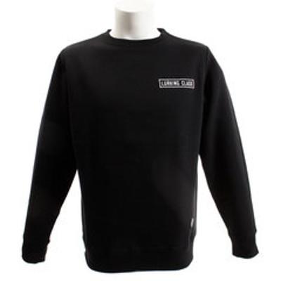 スウェット クルーネック ロングTシャツ ST18FU13 BLACK