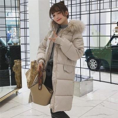 ダウンコートレディースダウンコート防寒ロングコートアウターゆったり軽いダウンジャケットレディース上品高級秋冬