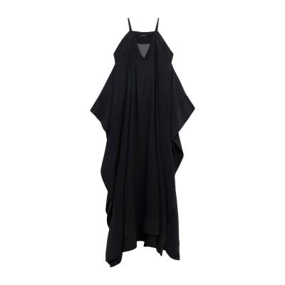 ALESSANDRO LEGORA ロングワンピース&ドレス ブラック 42 ポリエステル 98% / ポリウレタン 2% ロングワンピース&ドレス