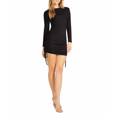 ビービーダコタ ワンピース トップス レディース # 1 Crush Long Sleeve Adjustable Rib Knit Mini Dress Black
