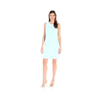 ドレス アンクライン Anne Klein レディース ドレス・ワンピース 10606850 Crepe Pleat Neck ノースリーブ Clear Water