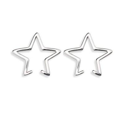 [silver KYASYA]2点セット!穴不要! シルバー925 シンプル イヤーカフ レディース star スターイヤーカフ 星 Ear
