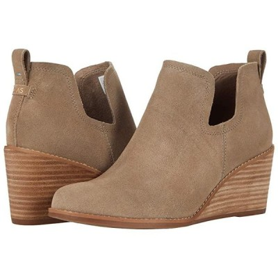 TOMS Kallie レディース ブーツ Taupe Grey Suede
