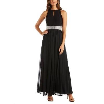 アールアンドエムリチャーズ ワンピース トップス レディース Embellished Gown Black