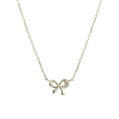 L&Co. / K10 ダイヤモンド モチーフ&一粒 ネックレス WOMEN アクセサリー > ネックレス