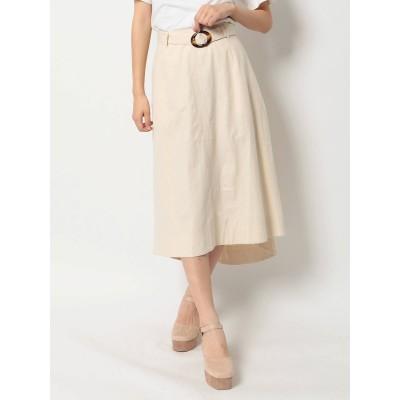 【公式】dazzlin(ダズリン)ベルト付セミフレアスカート