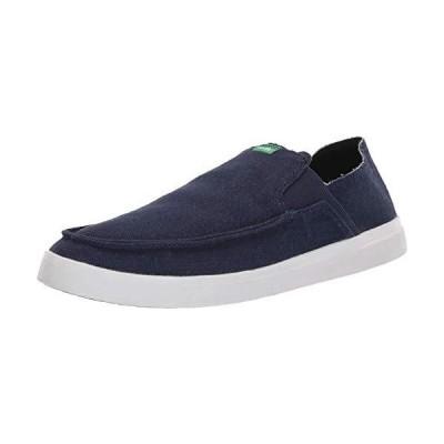 Sanuk Men's Pick Pocket Slip-On Linen Loafer Flat Navy 7 M US
