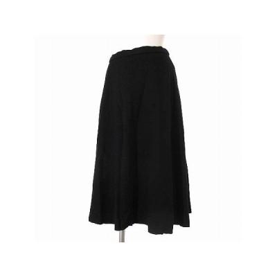 【中古】グリーンレーベルリラクシング ユナイテッドアローズ green label relaxing モナブル monable スカート 黒 ブラック 36 レディース 【ベクトル 古着】
