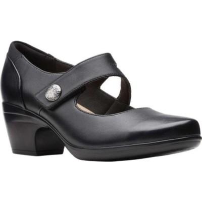 クラークス サンダル シューズ レディース Emily Reaya Mary Jane (Women's) Black Leather