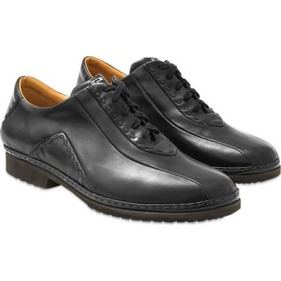 パーカーソン Pakerson メンズ 革靴・ビジネスシューズ レースアップ シューズ・靴 Black Italian Hand Made Calf Leather Lace-up Shoes Black
