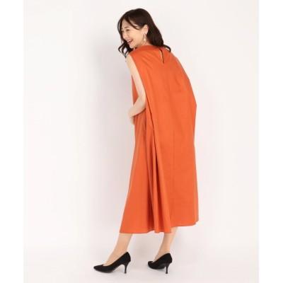 【ストロベリーフィールズ】 コーティングウォッシュ ワンピース レディース オレンジ 2 STRAWBERRY-FIELDS