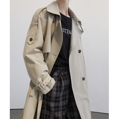 コート トレンチコート 【Fano Studios】【2021SS】Double breasted wide trench coat cb-3 FC2