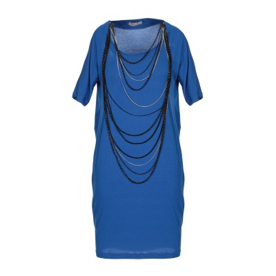 BETTY BLUE ミニワンピース&ドレス ブルー 42 レーヨン 90% / ポリウレタン 10% ミニワンピース&ドレス