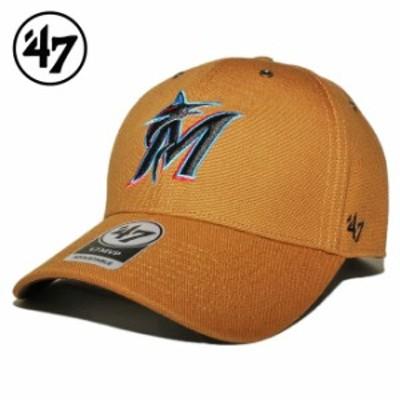 47ブランド カーハート コラボ ストラップバックキャップ 帽子 メンズ レディース 47BRAND CARHARTT MLB マイアミ マーリンズ フリーサイ