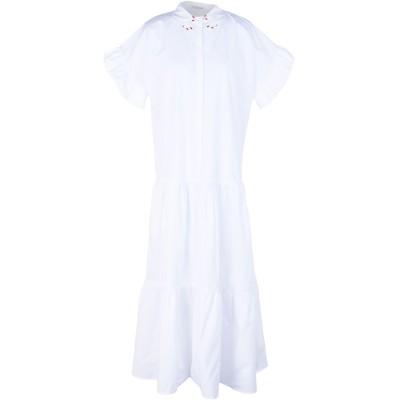 VIVETTA ロングワンピース&ドレス ホワイト 44 コットン 100% ロングワンピース&ドレス