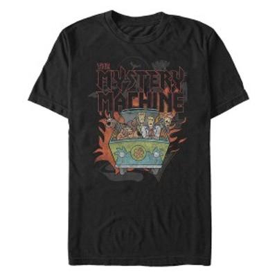 フィフスサン メンズ Tシャツ トップス Scooby-Doo Men's Metal Mystery Machine Short Sleeve T-Shirt Black