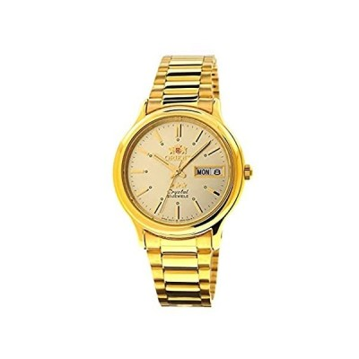 Orient TriStar Mens Classical Automatic Textured Dial Gold Watch AB05003C