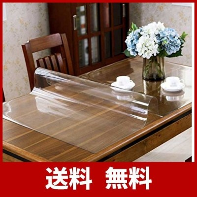PVC製 テーブルクロス テーブルマット 50*100cm透明 デスクマット 長方形 厚さ1.5mm 防水 耐久 汚れ防止,無臭で収縮しない.