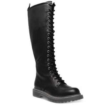 ワイルド ペア レディース ブーツ&レインブーツ シューズ Rylee Combat Boots, Created for Macy's Black Smooth