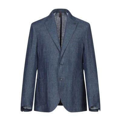 LABORATORI ITALIANI テーラードジャケット ブルー 52 麻 100% テーラードジャケット