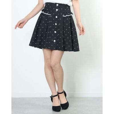 シークレットハニー Secret Honey ハートプリントスカート (クロ)