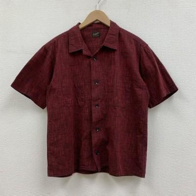TENDERLOIN テンダーロイン 半袖 シャツ、ブラウス Shirt, Blouse 半袖 オープンカラー 開襟 シャツ コットン レッド ブラック ボックス カット 10013598