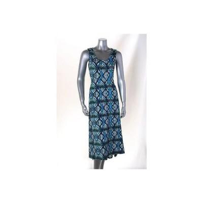 エレメント/ノーテーションズ インク ドレス ワンピース フォーマル Elementz マルチ Petite ノースリーブ Scoop Neck プリント ドレス PS MSRP 50LAFO