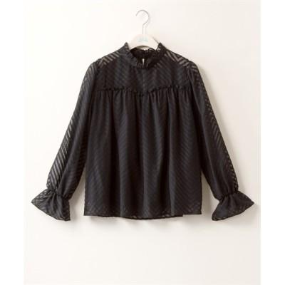 【大きいサイズ】 スタンドネック長袖ブラウス【JINTY】  plus size shirts, テレワーク, 在宅, リモート