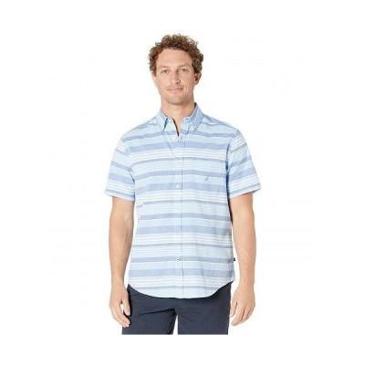Nautica ナウチカ メンズ 男性用 ファッション ボタンシャツ Classic Fit Striped Shirt - Silver Lake Blue