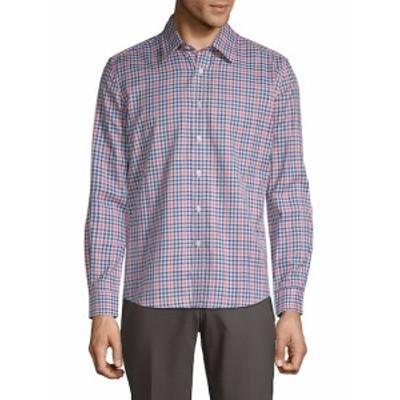 ハイデンヨー Men Clothing Checkered Cotton Button-Down Shirt