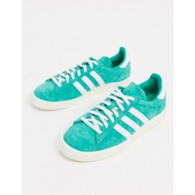 アディダス レディース スニーカー シューズ adidas Originals Campus 80's sneakers in green Mint