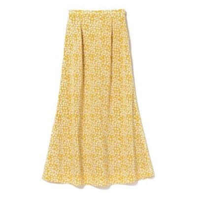 スカート Ray BEAMS / フラワー プリント ロングスカート
