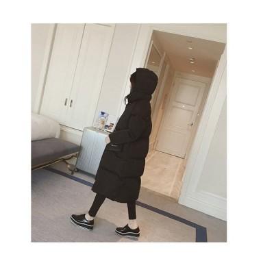 コートレディースロングコートロング丈レディースジャケットアウター綿コート大きいサイズ秋冬軽量中綿グレーブラック