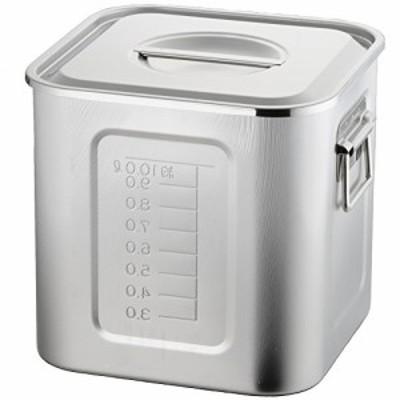 AG 21-0 目盛付 角型キッチンポット 21cm (手付)