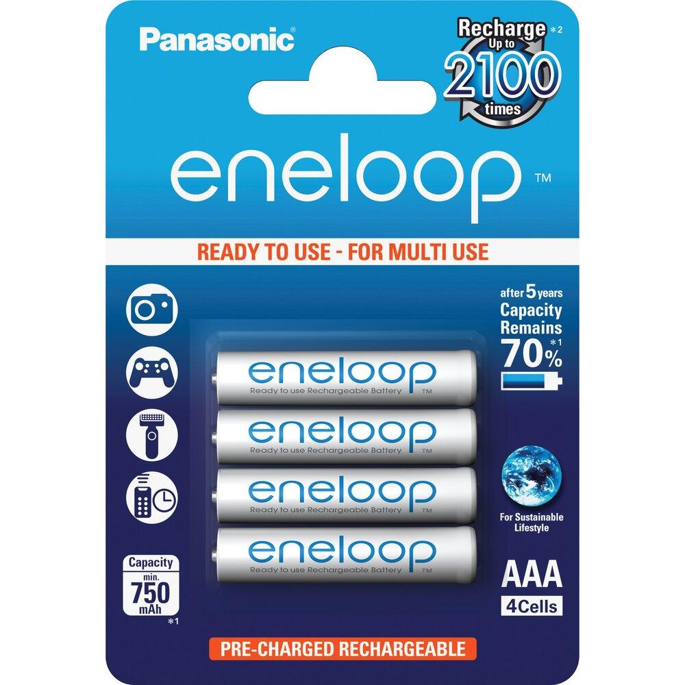 日本製 Panasonic eneloop 充2100次 4號AAA低自放電充電電池,密封8入裝,送電池盒2